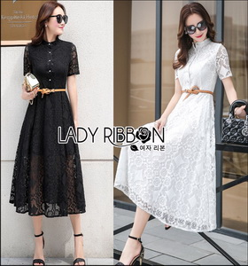 Lady Ribbon Leslie Modern Feminine Lace Shirt