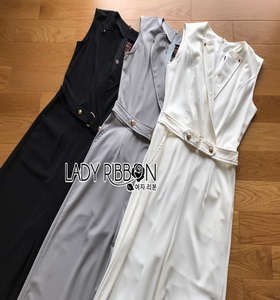 Lady Ribbon Lady Katheryn Minimal Chic Belted Jumpsuit