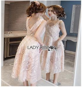 Lace Cocktail Dress Lady Ribbon ค็อกเทลเดรสผ้าลูกไม้
