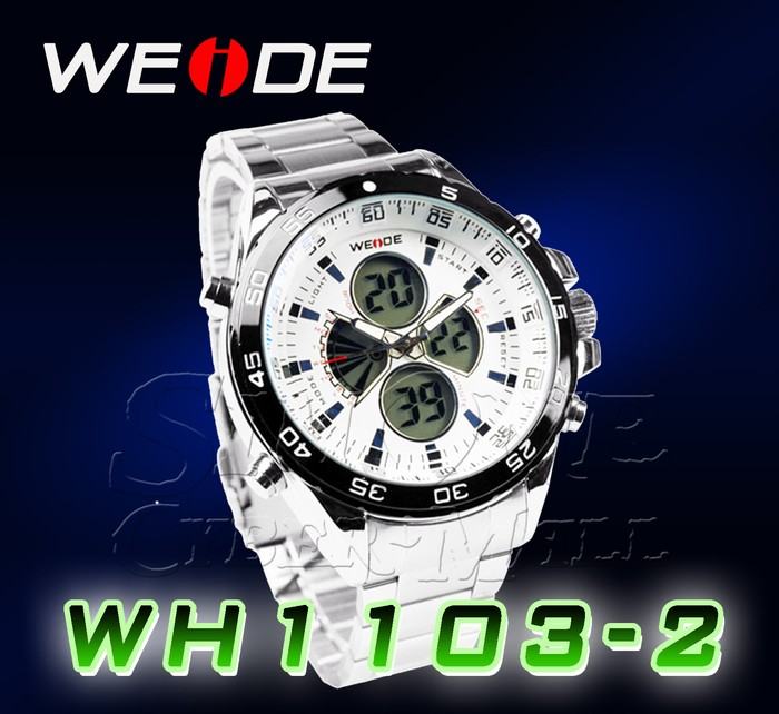 WEIDE – WH-1103-2: Dual Time Dual System Alarm Chronogragh Sport Watch