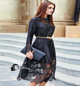 long dress ผ้าซาติน เสื้อผ้าแฟชั่น เสื้อผ้าแฟชั่นเกาหลี Cliona