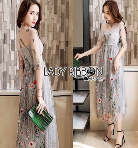 Lady Ribbon Midi Dress