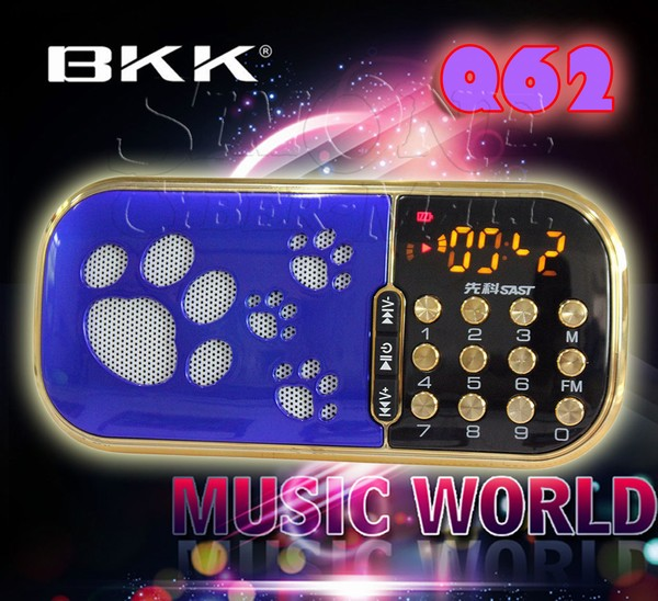 Q62 Mini Portable FM Radio / MP3 Player / PC Speaker