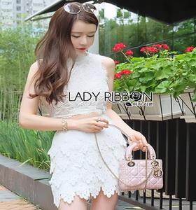 Lady Ribbon Mini Skirt Set เซ็ตเสื้อแขนกุด