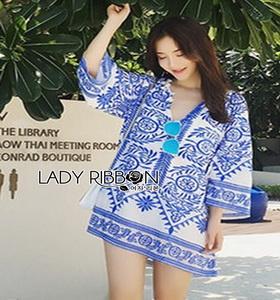 Lady Ribbon Crepe Blouse เสื้อผ้าเครปสีoff white