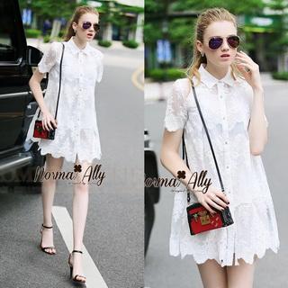 Lady Ribbon Online เสื้อผ้าออนไลน์ขายส่ง Normal Ally เสื้อผ้า NA15150816 &#x1F389Normal Ally Present Embroider prince dress &#x1F389