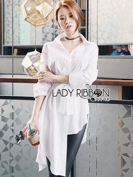 Lady Joanna Chic Shirt Dress in White