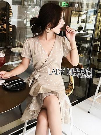 Star Velvet Ruffle Lady Ribbon Dress