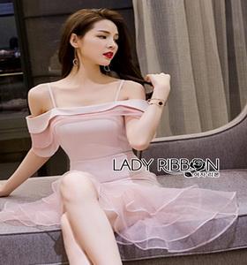 Lady Ribbon Melissa Ruffle Pink Dress