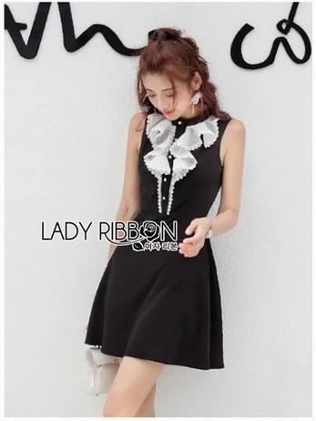 Lady Veronica Sleeveless Black Dress
