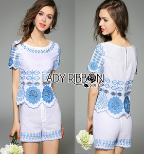 Lady Ribbon Cotton Set เซ็ตเสื้อและกางเกงผ้าคอต