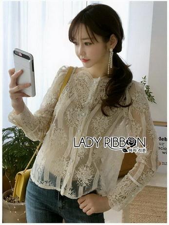 Lady Nana Button-Down Cream