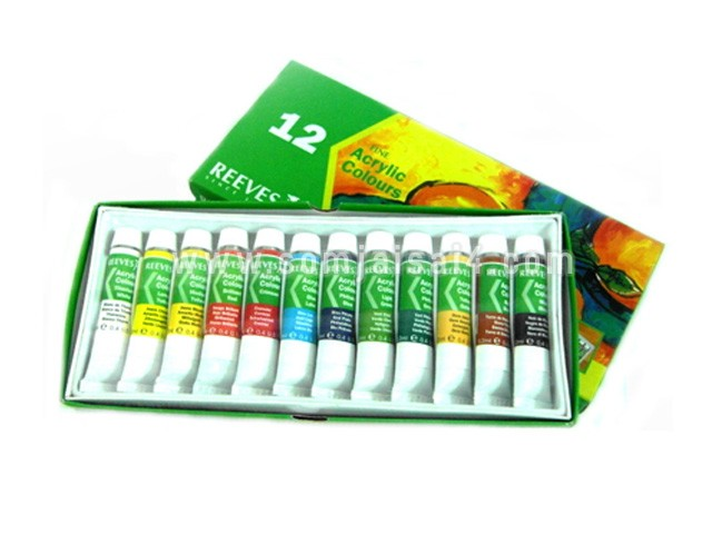 REEVES fine acrylic colour set 12 colour