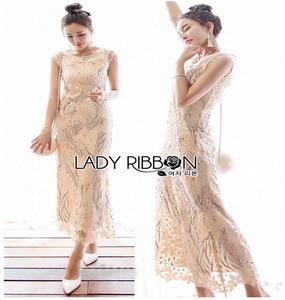 Lady Ribbon Lace Evening Dress