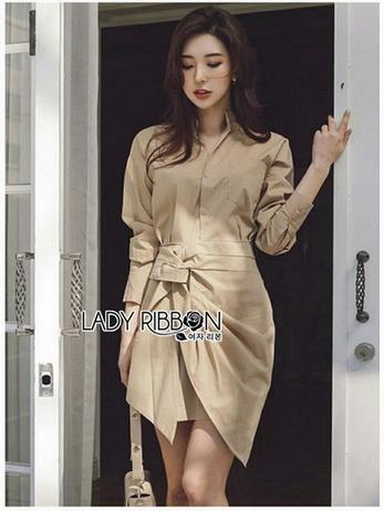 Lady Amy Sexy Minimal Cotton Shirt Dress