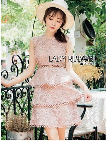 Lady Layla Baby Pink Ruffle Layered
