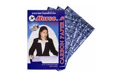 กระดาษคาร์บอนสีน้ำเงิน ตราม้า NO.4400