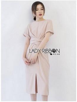 Lady Gabby Minimal Twisted Crepe Dress