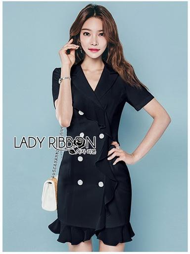 Suit Dress Lady Ribbon สูทเดรสผ้าเครป