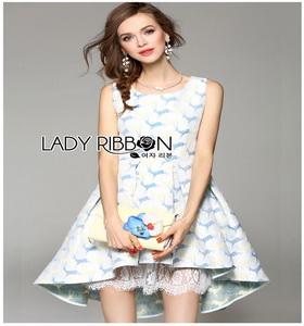 Lady Ribbon Vanessa Pretty Sweet Reindeer Pleated Dress