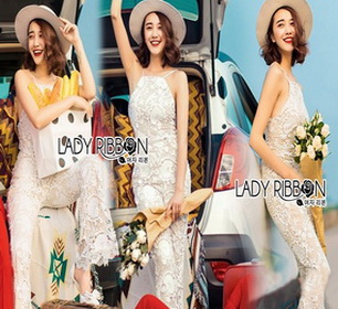 Lady Ribbon ขายส่ง Lace Jumpsuit