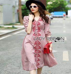 Lady Ribbon ขายเดรส Pink Denim Dress