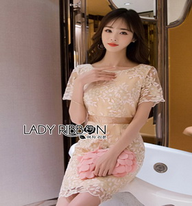 Lady Ribbon Sweet Allure Lace Mini Dress