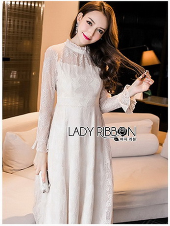 Lady Pat Sweet and Classic Off-White Lace Dress
