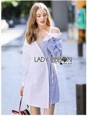 Shirt Dress Lady Ribbon เชิ้ตเดรส