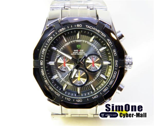 WEIDE – WH-1010-1: Quartz Analog Stainless Steel Sports Watch