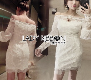 Lady Ribbon Lace and Sequin Embroidered Mini Dress