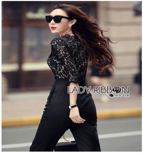 Lady Ribbon Jumpsuit จัมป์สูทสีดำสุดหรู