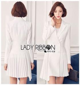 Lady Martin Smart Elegance Suit Pleated Dress