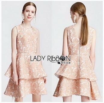 Peachy Lace Dress เดรสผ้าลูกไม้สีพีช