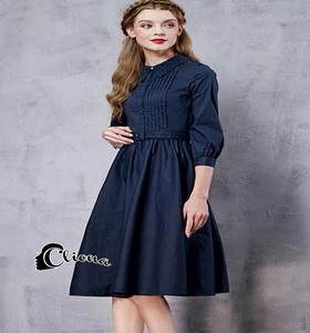 Black Dress dress. สีดำ ผ้า cotton แขนยาว
