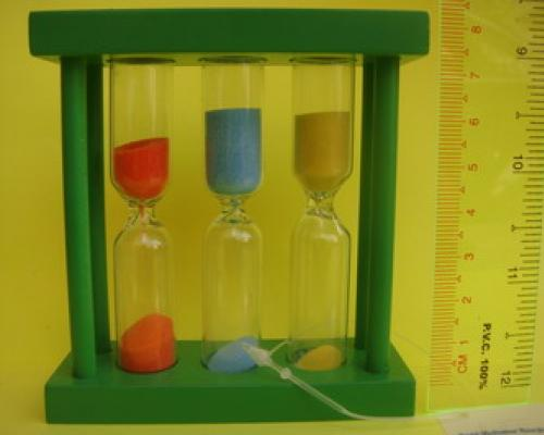 000 Rapid Meditation Hourglass (Green) สูง 8 cm