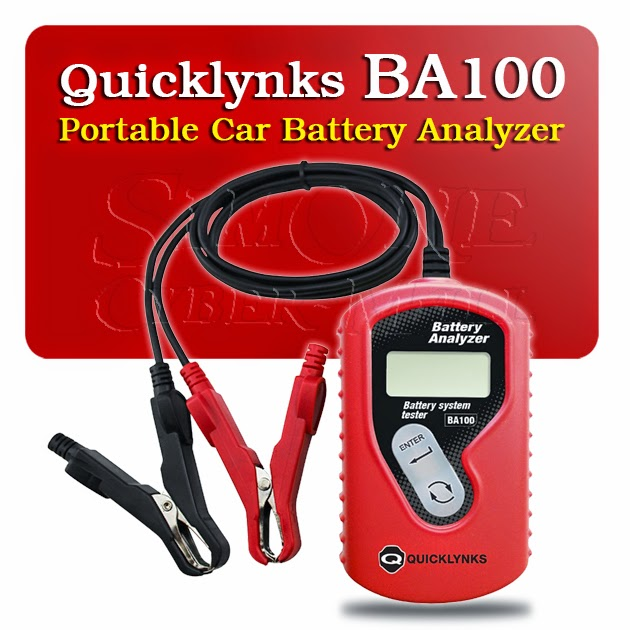 Quicklynks BA100 Portable Car Battery Tester