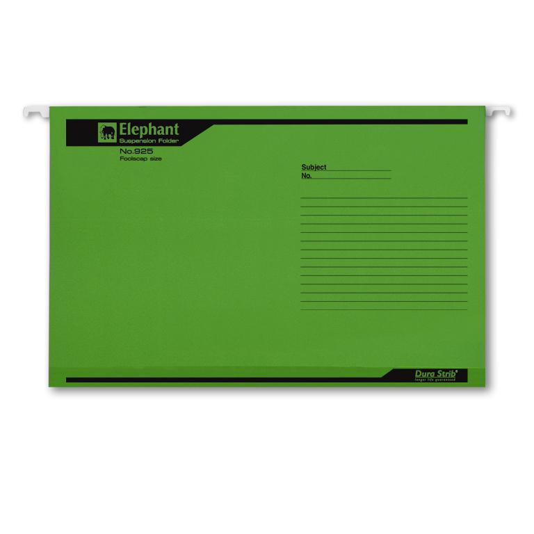 แฟ้มแขวนตราช้าง รุ่น 925 สีเขียว (บรรจุ 10 เล่ม)