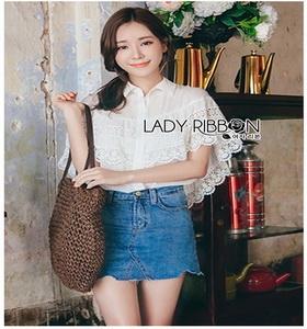 Lady Ribbon Lace and Chiffon Shirt ขายส่งเชิ้ตผ้าชีฟอง