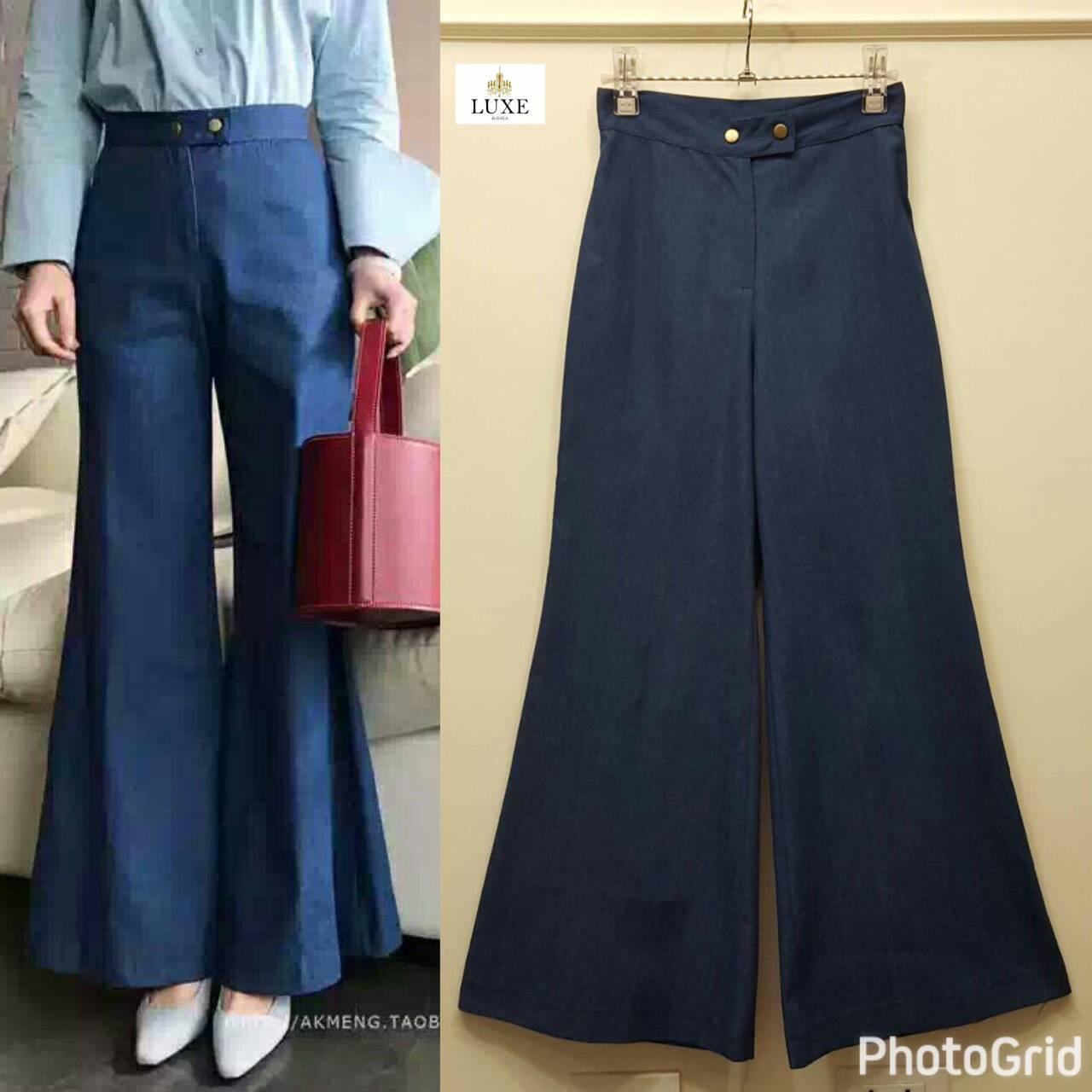 Blue Flared Denim Jeans
