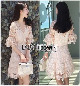 Lady Ribbon Anna Sweet Pink Lace Dress