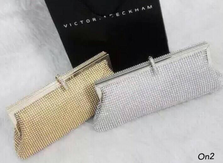 *Diamond Korea clutch bag luxury gold clutch*