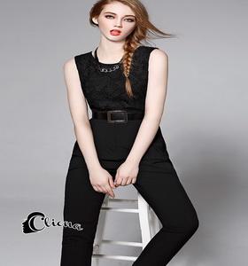 Cliona พร้อมส่ง Ciara Black Jumsuite