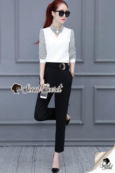 ชุดเซ็ทเสื้อขาว เซ็ทเสื้อดำ