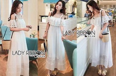 Lady Ribbon Maxi Dress เดรสยาว
