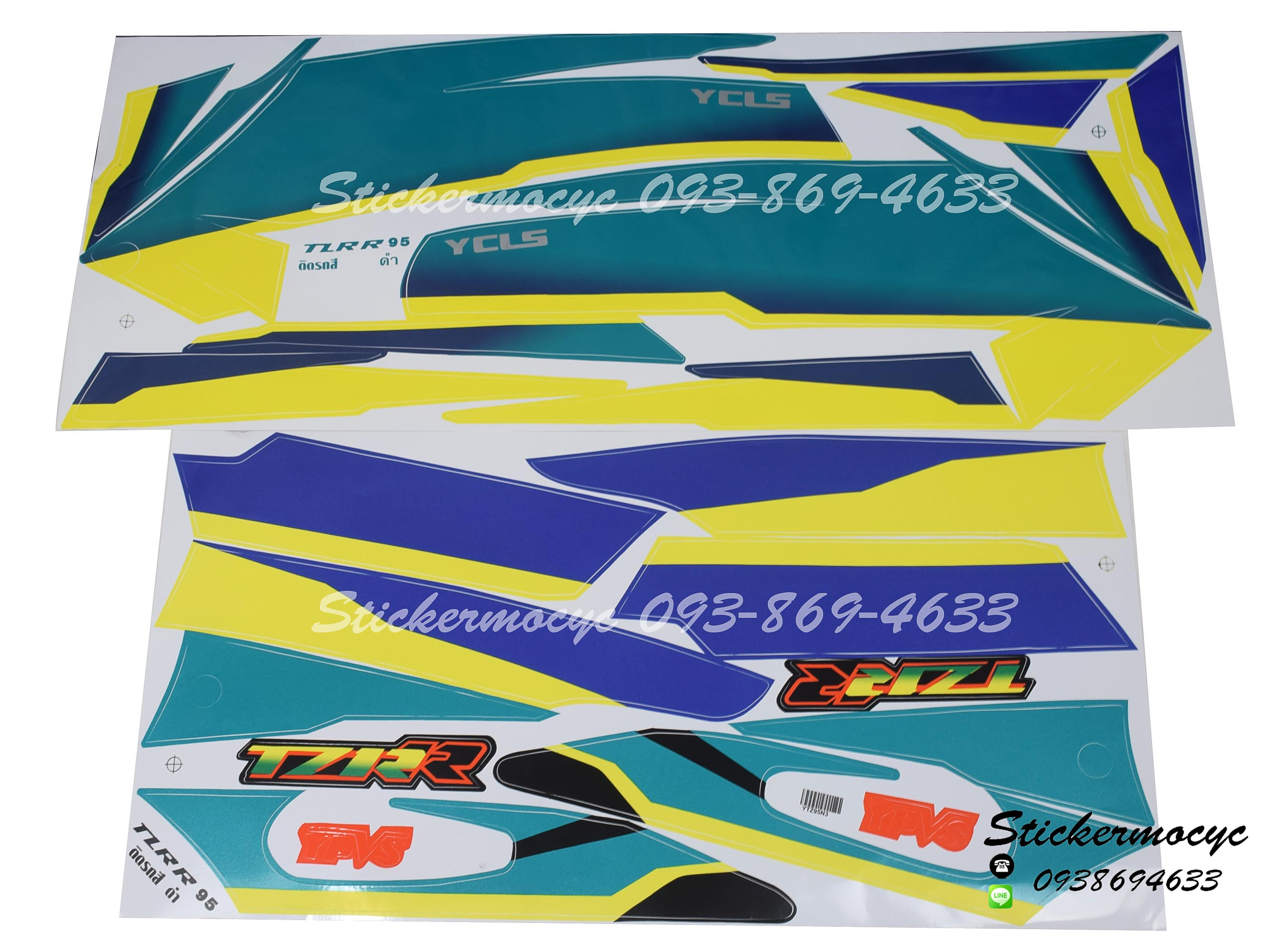 สติ๊กเกอร์ติดรถ มอเตอร์ไซค์ ยามาฮ่า TZR Sticker Yamaha TZR ปี 1995 ติดรถสี ดำ