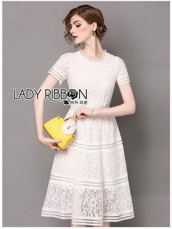 White Lace Dress เดรสผ้าลูกไม้สีขาว