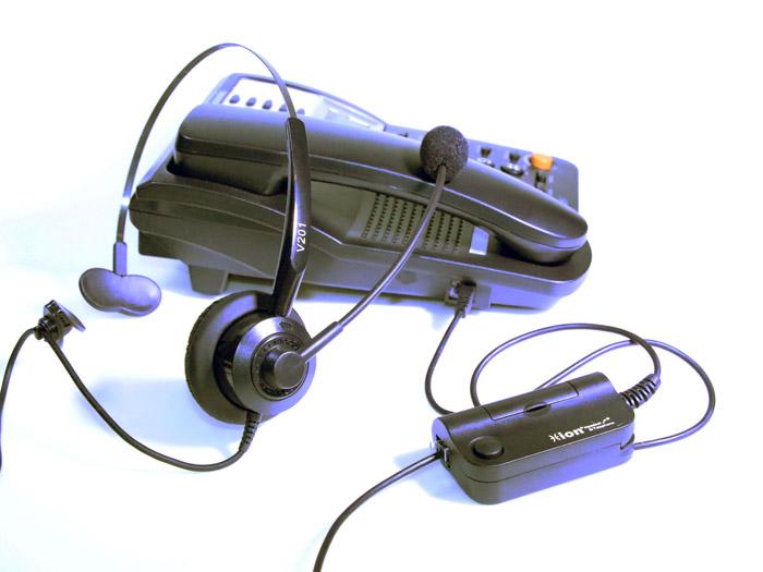 V201 หูฟัง Headset สำหรับโทรศัพท์บ้านและคอลล์เซนเตอร์มาพร้อมกับ Smart Box