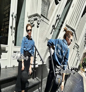 เสื้อยีนส์+กระโปรง ไหมพรมเกาหลี