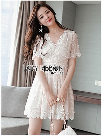 Sweet Lady Ribbon Little Lace Dress